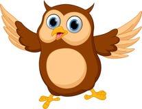 Happy Owl cartoon Stock Image