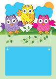 Happy Owl Introduction_eps Royalty Free Stock Images