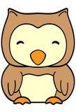 Happy owl on white background Stock Photo