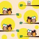 Happy owls Royalty Free Stock Photo