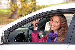Happy owner of a new car. Stock Image
