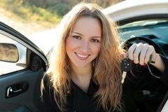 Happy owner of a new car Stock Image