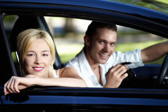Happy owners of cars Royalty Free Stock Images