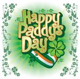 Happy Paddy's Day Royalty Free Stock Photo