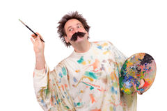 Happy painter Royalty Free Stock Images