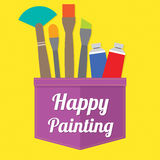 Happy Painting Royalty Free Stock Image
