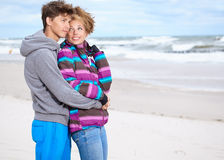 Happy pair of male and female Stock Photos