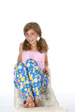 Happy pajamas girl Royalty Free Stock Images