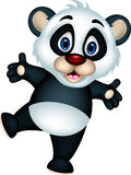 Happy panda cartoon Stock Image