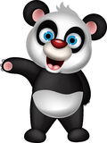 Happy panda cartoon posing Royalty Free Stock Image