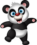 Happy panda cartoon for you design Stock Images