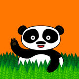 Happy panda smiling and waving Royalty Free Stock Photos