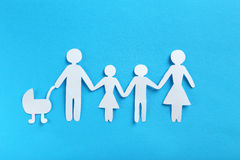 Happy paper family Stock Images