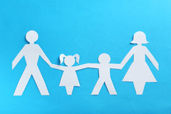 Happy paper family Stock Photo