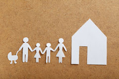Happy paper family Stock Photography