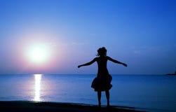 Happy at paradise beach Stock Photo
