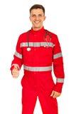 Happy paramedic gives thumbs Stock Image