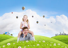 Happy parenting Royalty Free Stock Photography