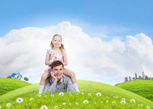 Happy parenting Stock Photography