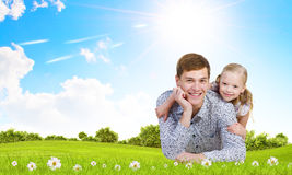 Happy parenting Stock Image