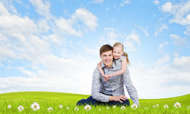 Happy parenting Royalty Free Stock Photos