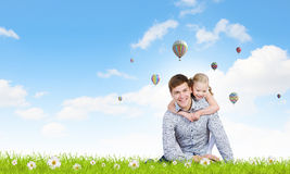 Happy parenting Royalty Free Stock Image