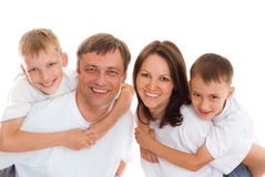 Happy parents with  children Royalty Free Stock Images