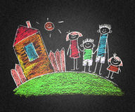 Happy parents and children Royalty Free Stock Photos