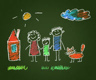 Happy parents and children Stock Images