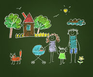 Happy parents and children Royalty Free Stock Image