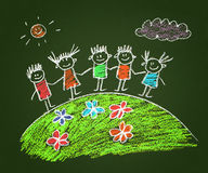 Happy parents and children Royalty Free Stock Photo