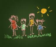Happy parents and children Stock Image