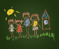 Happy parents and children Royalty Free Stock Photography