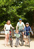 Happy parents with children outdoor Stock Photos