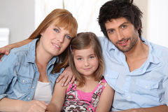 Happy parents with daughter Royalty Free Stock Image