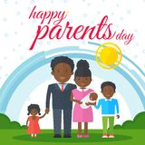 Happy parents day black Stock Photography