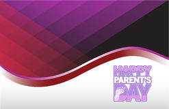 Happy parents day color card sign illustration Royalty Free Stock Photo