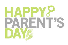 Happy parents day green color sign Stock Images