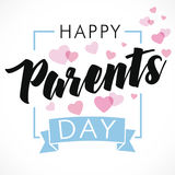 Happy Parents Day greeting card Stock Photography
