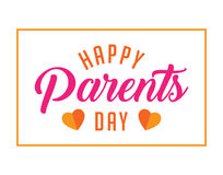 Happy parents day greetings Stock Photography