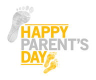 Happy parents day sign. happy feet Stock Images