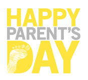Happy parents day stack sign Illustration Stock Photos