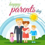 Happy parents day white Stock Photography