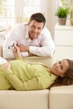 Happy parents expecting baby Stock Images