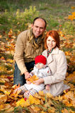 Happy parents. Father, mother and little daughter Royalty Free Stock Photography