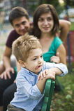Happy parents and kid Royalty Free Stock Photography