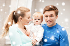 Happy parents playing with adorable baby Stock Photography
