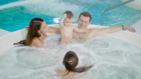 Child in swimming pool happy little girl relaxing in - Swimming pool girl christmas vacation ...