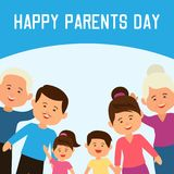 Happy parents`s day concept. vector illustration stock illustration