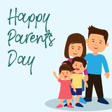 Happy parents`s day concept. vector illustration vector illustration